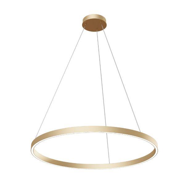 Złota lampa wisząca Rim - 80cm, zintegrowany led