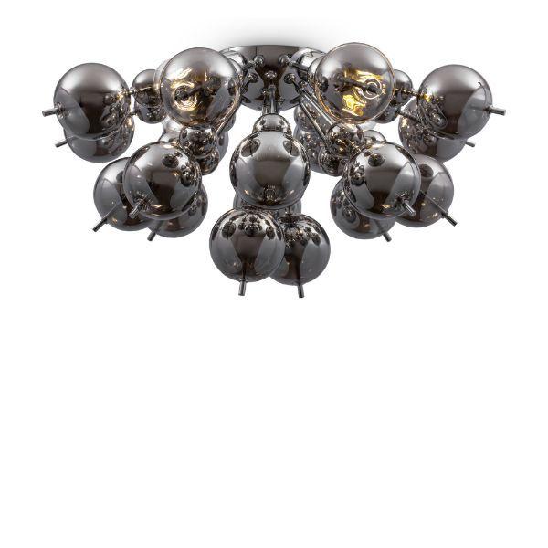 Lampa sufitowa Bolla - srebrna, szklane klosze