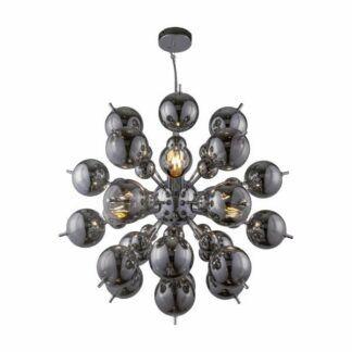 Lampa wisząca Bolla - srebrna, szklane klosze
