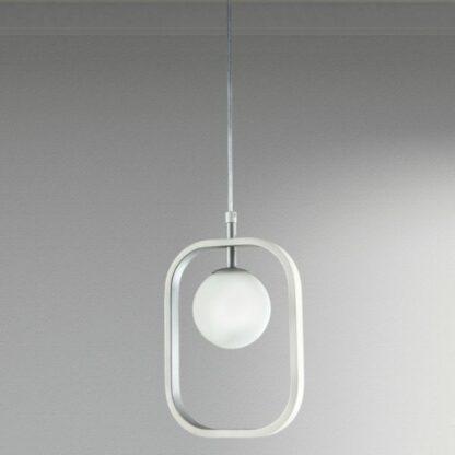Nowoczesna lampa wisząca Avola - srebrna, szklana kula