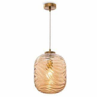 Lampa wisząca Dunas - szklana, bursztynowa