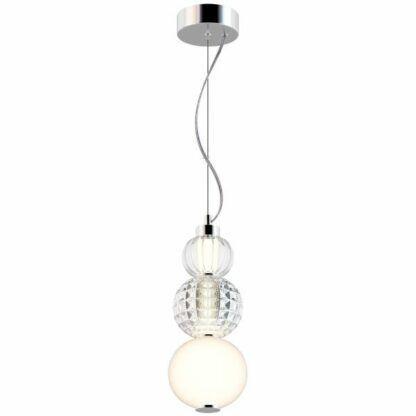 Szklana lampa wisząca Collar - pionowa