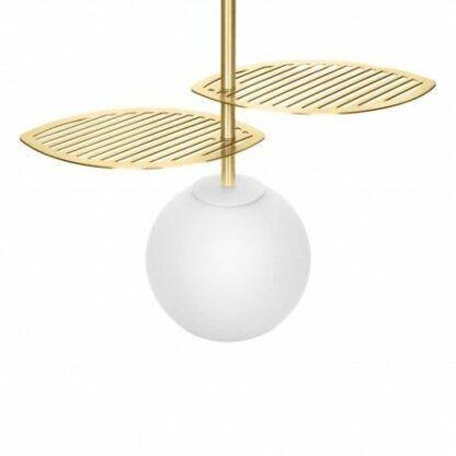 Lampa wisząca Fyllo - szklany klosz, złota