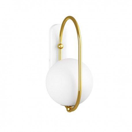 Złoty kinkiet Koban D - szklana kula