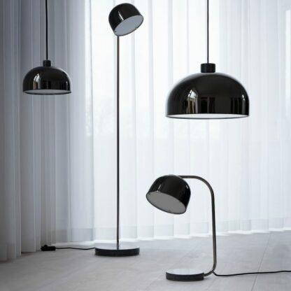 Czarna lampa wisząca Grant - Ø23, połysk