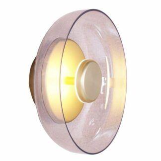 Nowoczesny kinkiet Disco - szklany klosz, LED