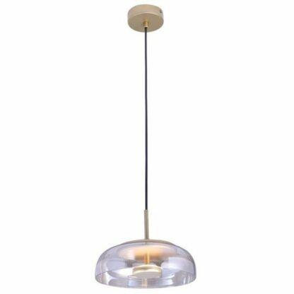 Nowoczesna lampa wisząca Disco - szklany klosz