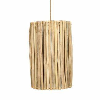 Drewniana lampa wisząca Tulum - styl boho