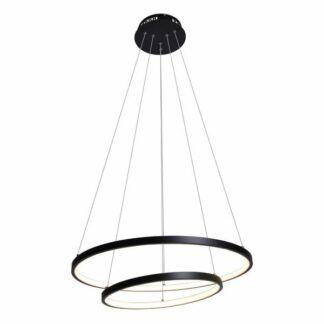 Ledowa lampa wisząca Diego - 2 czarne ringi