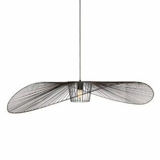 Designerska lampa wisząca Kapelusz - czarny klosz