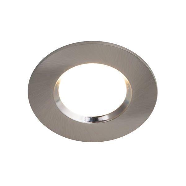 Srebrne oczko sufitowe Mahai - IP65, LED