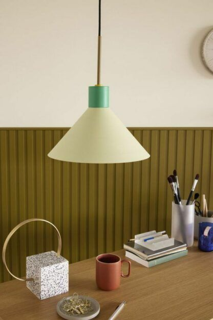 Nowoczesna lampa wiszaca Tre Farver - zielona