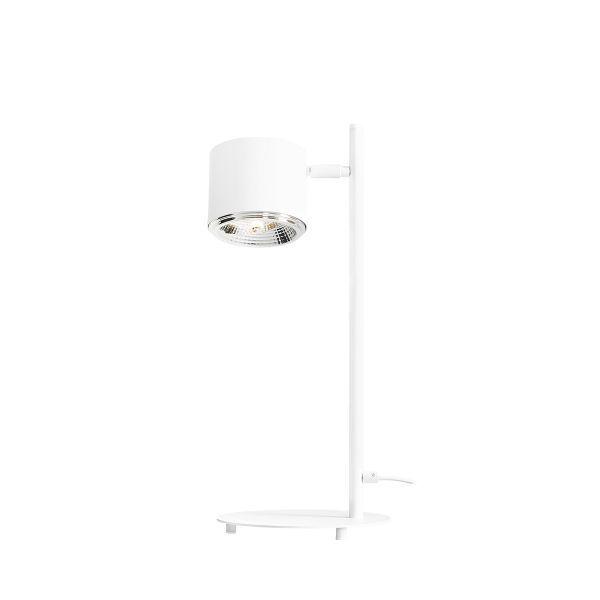 Biała lampa biurkowa Bot - nowoczesna
