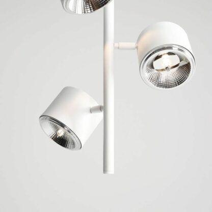 Biała lampa wisząca Bot - 3 regulowane klosze