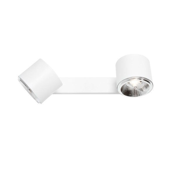 Podwójna lampa sufitowa Bot - białe klosze
