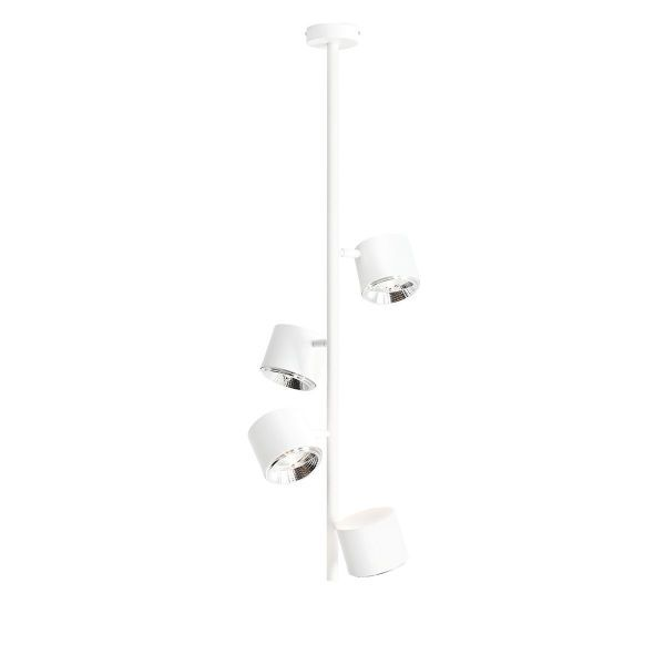 Lampa sufitowa Bot 4 Vertical - biała, regulowane klosze