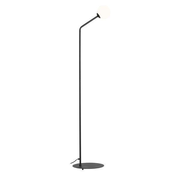 Czarna lampa podłogowa Pure - szklany klosz