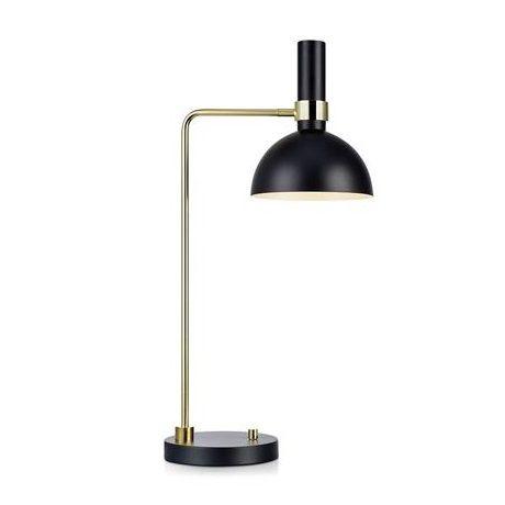 Złota lampa stołowa Larry - czarny klosz