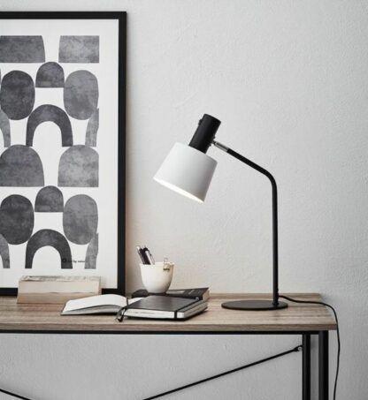 Lampa biurkowa Bodega - czerń i biel