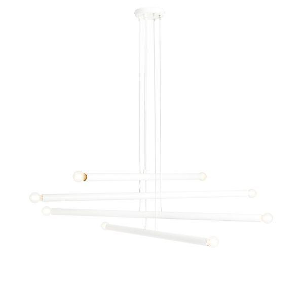 Lampa wisząca Tubo 8 - biała, nowoczesna