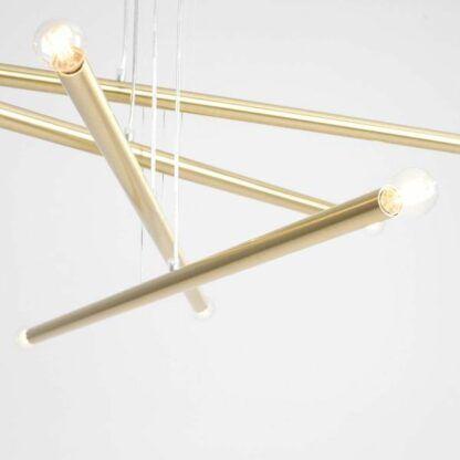 Efektowna lampa wisząca Tubo 8 - mosiądz