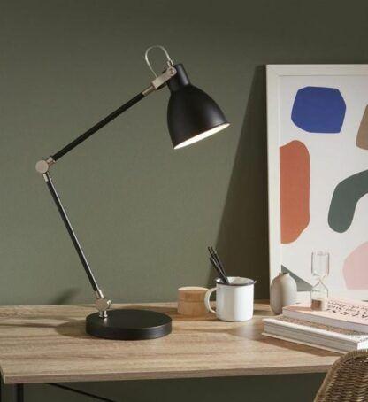 Czarna lampa biurkowa House - regulowana