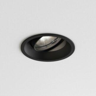 Oczko sufitowe Minima Round - wychylne, czarne
