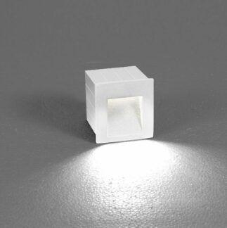 Biała oprawa ścienna Step - LED, IP44