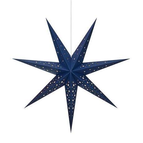 Granatowa gwiazda świąteczna Solvalla - papierowy lampion