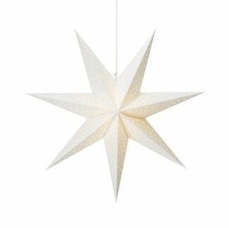 Świąteczna gwiazda wisząca Clara - na okno, biała