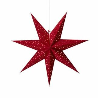 Czerwona gwiazda świąteczna Clara - na okno, lampa z wtyczką