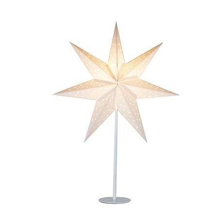 Biały lampion Clara - świąteczna lampa stołowa