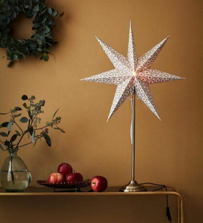 Świąteczna gwiazda Baroque - lampion stołowy