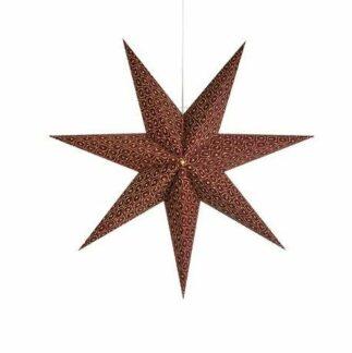 Lampa wisząca Baroque - bordowa gwiazda świąteczna
