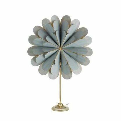 Dekoracyjna lampa stołowa Marigold - szary klosz