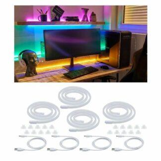 Zestaw kolorowych węży świetlnych Neon Colorflex - 4 szt.