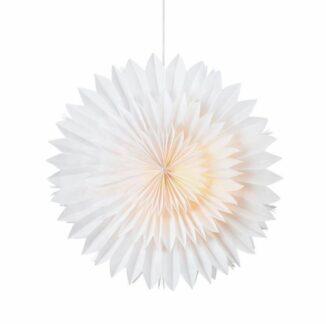 Biały lampion Solina - 45cm, dekoracyjne światło