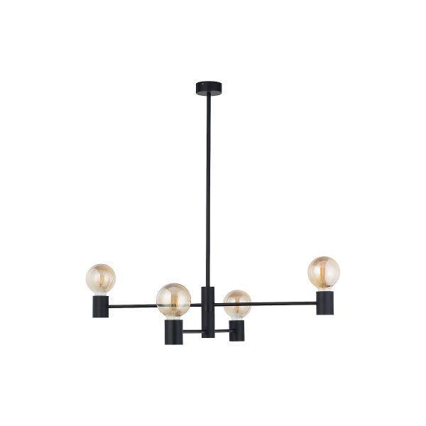 Czarna lampa wisząca Radius IV - nowoczesna