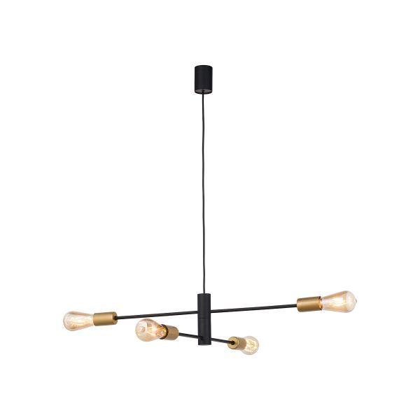 Lampa wisząca Rotor IV - złote detale