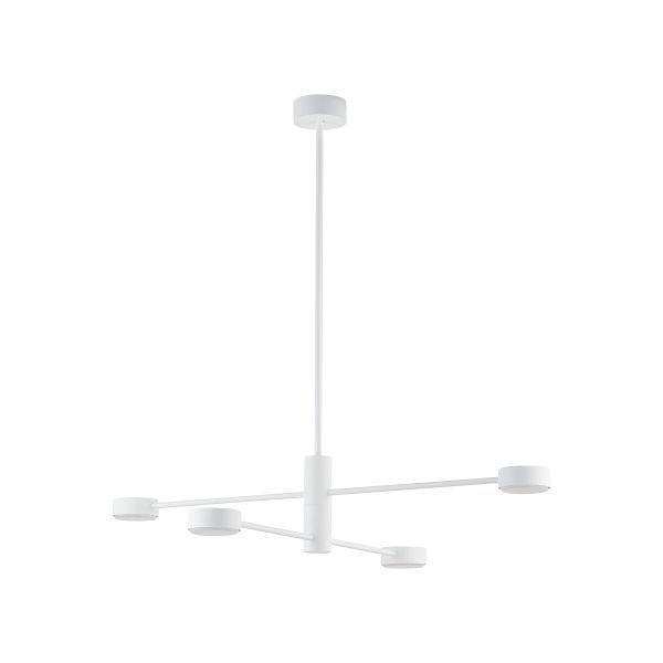 Nowoczesna lampa wisząca Orbit IV - biała