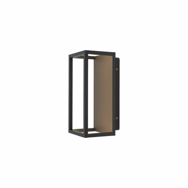 Czarny kinkiet zewnętrzny Symmetry - LED, IP54