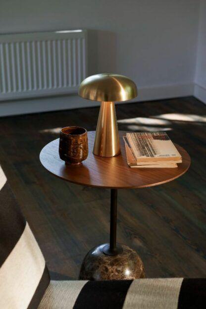 Mobilna lampa stołowa Como SC53 - na USB, mosiądz