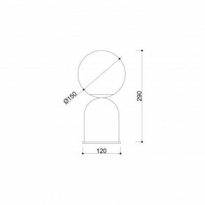 Mała lampa stołowa Luoti - czerń i biel