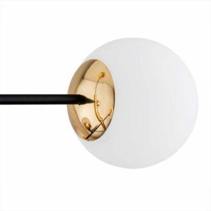 Elegancka lampa wisząca Cameron - czerń i złoto, szklane kule
