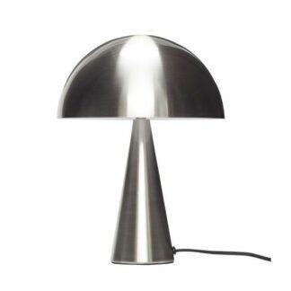 Srebrna lampa stołowa Cone - grzybek