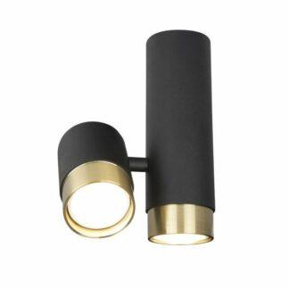 Czarna lampa sufitowa Puma - czerń i złoto