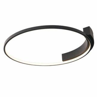 Nowoczesna lampa sufitowa Velvet M - czarny ring, 3000K