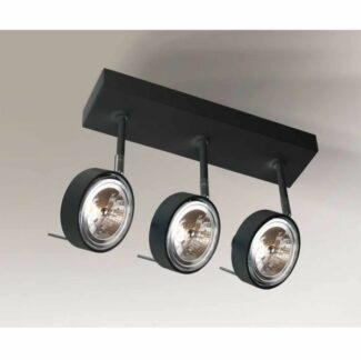 Potrójny reflektor sufitowy Fussa - czarny