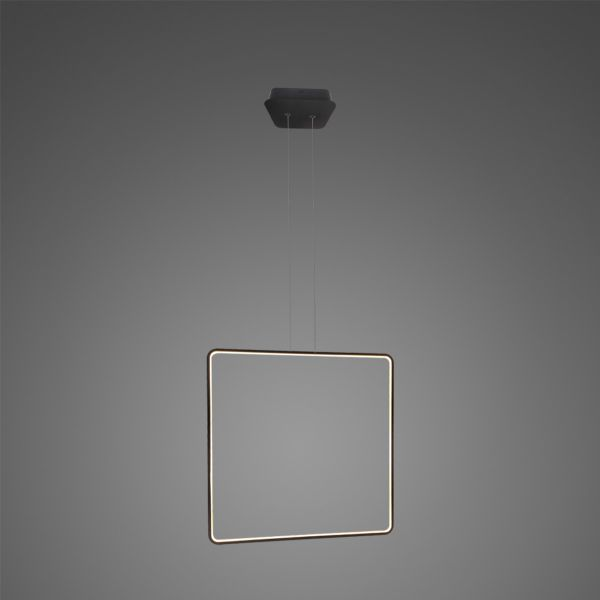 Czarna lampa wisząca Shape Kwadraty No.1 X - Φ80, 3000, ściemnialna