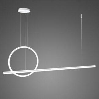 Biała lampa wisząca Linea No.2 - Φ40 cm, 3000K